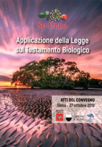 Copertina della pubblicazione degli Atti del Convegno sul testamento biologico